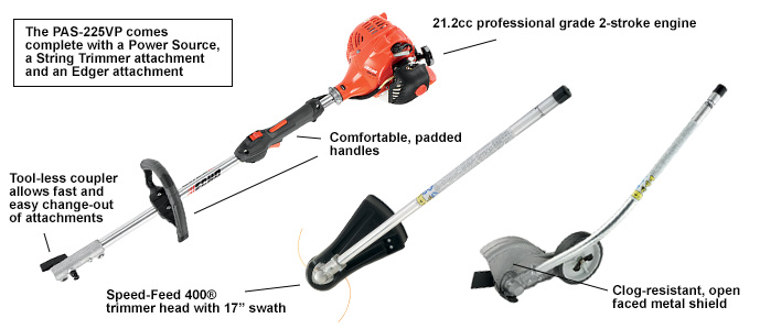 ECHO PAS225VP Pro Attachment Series Combo Pack