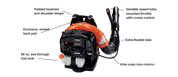 ECHO 770T Backpack Leaf Blower