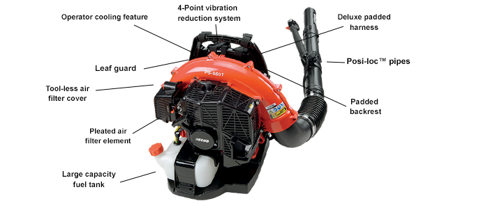 ECHO PB580T Backpack Leaf Blower