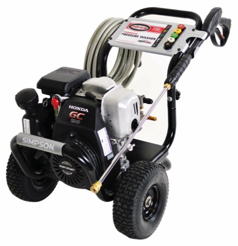 Simpson MSH3125-S MegaShot Series 3100PSI, direct drive gas powered pressure washer